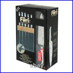 100% Genuine! FURI Pro Limited Edition Black Knife Block Set 7 Piece! RRP $549