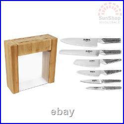 100% Genuine! GLOBAL Ikasu 6 Piece Knife Block Set! Made in Japan! RRP $859.00