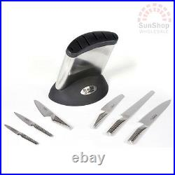 100% Genuine! GLOBAL Synergy 7 Piece Knife Block Set Made in Japan! RRP $955.00
