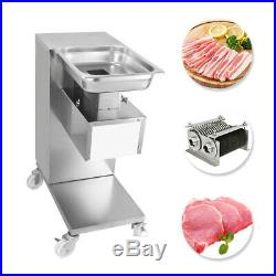 110V Meat Slicer Meat Cutting Machine 2 Sets of Blade 500KG Output Meat Cutter