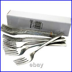 12 X Forks Cutlery Table Stainless Steel Kitchen Set Fork Dinner Pasta New Food