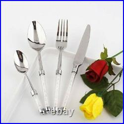 24pc Stainless Cutlery Set with Swarovski Crystal Filled Handle