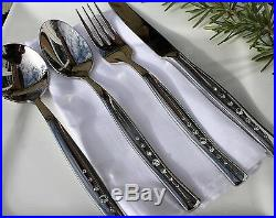 24pc Stainless Cutlery Set with Swarovski Crystals