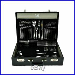 68 PCs Stainless Steel Cutlery Set Case Dining Utensils Tableware Gift Gerpol