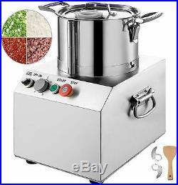 6L Commercial Food Processor Blender Vegetable Cutter Stainless Steel 2set Blade