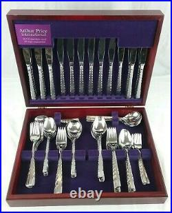 ARTHUR PRICE Cutlery Set 88 Pc Canteen Stainless Steel & Wooden Presentation Box