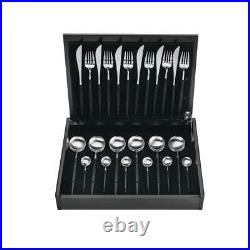 ASA Goa Cutlery Set 24 Pieces Cutlery Stainless Steel Black L 41 cm 32100950