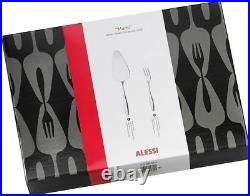 Alessi Dressed Collection MW03S13 12 Pastry forks and one cake server Set