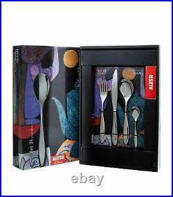 Alessi MAMI Stefano Giovannoni 24-Piece Cutlery Set SG38S24M 18/10 Gift Boxed