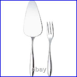 Alessi Mami Cake Server & 12 Pastry Fork Set Stainless Steel