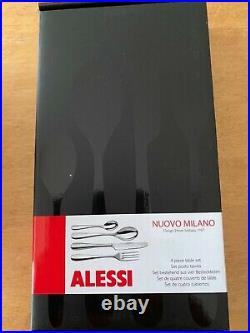 Alessi Nuovo Milano Cutlery 32-Piece Table Set. Set of four in 8 boxs