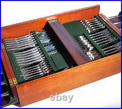 Alveston Cutlery Set 50 Pc Old Hall for 6 with Rosewood Canteen Stainless Steel
