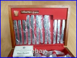 Arthur Price Britannia Cutlery set 62 piece 6 people stainless steel canteen