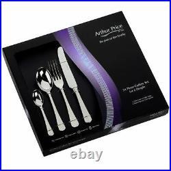 Arthur Price Classic Rattail 24 Piece Cutlery Gift Box Set