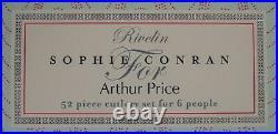 Arthur Price Sophie Conran Rivelin 52 Piece Cutlery Set In Unused Condition
