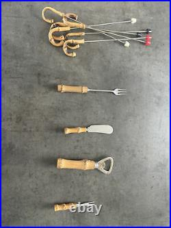Bamboo Handle And Stainless Steel Cutlery Set