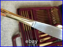Bestecke Solingen Gold Plated 70 Piece Cutlery Set with Lockable Carry Case