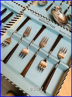 Boxed Manhattan Cutlery Set, Joseph Rodgers & Sons, Stainless Steel & Rosewood