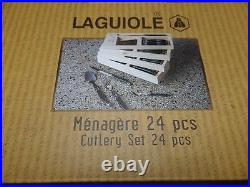 Classy Laguiole Cutlery Tray/Cutlery Set 24 Pieces New IN Wooden Box 268779