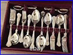 Cooper Ludlam Kings Design Silver Plated 44 Piece Canteen of Cutlery Set
