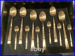 Cutipol Duna 24 Piece matt gold Cutlery Set NEW