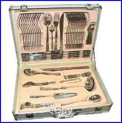Cutlery Set 18/10 Stainless Steel 86 Piece Supreme Quality Table Silver Canteen