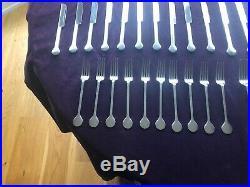 David Mellor designer Hoffmann vintage cutlery set for 10 people 75 pieces 1980s