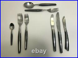 ELDAN 1960s STAINLESS CUTLERY SET mid-century, Ebosi pattern, 48 piece canteen