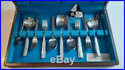 Excellent Vintage Viners Chelsea Pattern Boxed Canteen Cutlery Service Six Sets