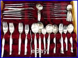 FANTASY by NORITAKE NTK 18-8 Stainless Steel Cutlery Set &Canteen 8 People E35