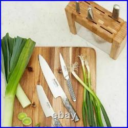 Genuine / Global Ikasu (79585) 7 Pc Knife Block Set / Made In Japan