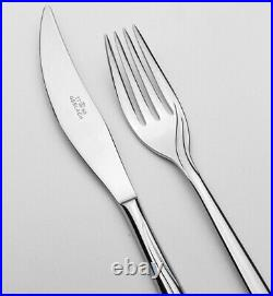 Gerlach Flames Cutlery Set 24 Pieces For 6 Persons Gloss Stainless Steel 24 Pcs