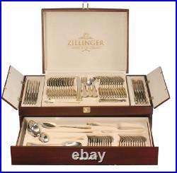Greek 72 Piece Gold Cutlery Table Set Stainless Steel Canteen Zillinger Medusa