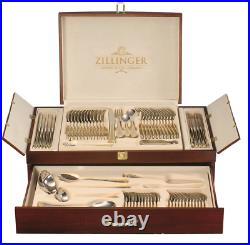 Heavy 72pcs Gold Cutlery Table Set Stainless Steel Canteen Christmas Gift