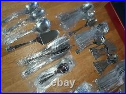 Housley Stainless Steel Cutlery Set Of 92 Pieces 8 Setting. Beautiful. Retro