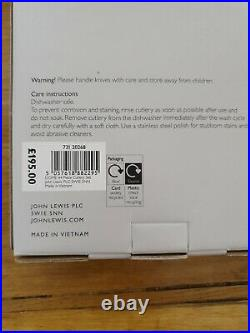 John Lewis Dome Cutlery 6 place 44 total items 18/8 Stainless Steel BNIB