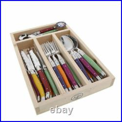 Laguiole 24 Piece Cutlery Set Maison by Jean Dubost Mixed Colour