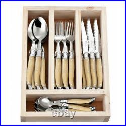 Laguiole 24 Piece Cutlery Set by Jean Neron Light Horn