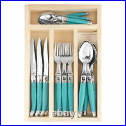 Laguiole 24 pce Cutlery Set Turquoise by Jean Dubost 1.5mm