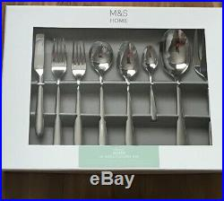 Marks & Spencer STAILESS STEEL 44 Piece Classic Maxim Cutlery Set M&S Rrp £99