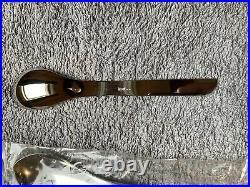 Modernist Asymmetric Italian Cutlery Set 20 Pieces Mepra Katja Stainless Steel