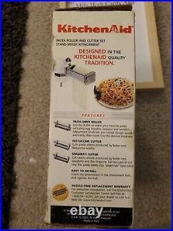 NEW KitchenAid #KPRA 3 Pc PASTA ROLLER & CUTTER SET Stand Mixer Attachment