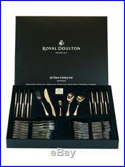 NEW Royal Doulton Cutlery Set Lucido 56 Piece Gift Box Set