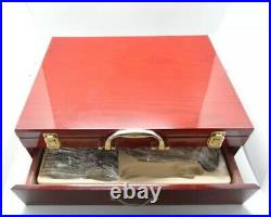 NEW Style 72Pcs Stainless Steel Wood Box Gold Flatware Set CANTEEN CHRISTMAS