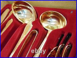 NIVELLA SOLINGEN 24ct Gold Plated 70pc Cutlery Set For 12 People With Case S46