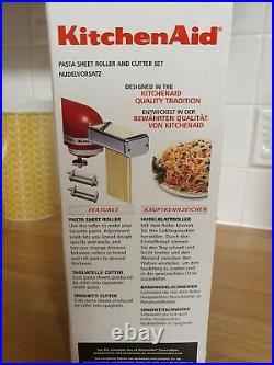 New KitchenAid 3 piece Pasta Roller and Cutter set Mixer attachments. 5KPRA