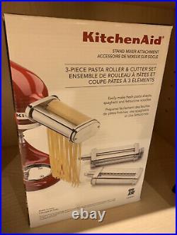 New Kitchen Aid Stand Mixer Attachment 3 Piece Pasta Roller & Cutter Set