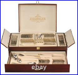 New Zillinger Gold Heavy 72 Piece Cutlery Set Stainless Steel Canteen Christmas