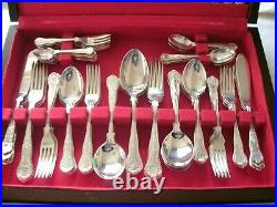 Newbridge Canteen of Cutlery Silver Plate EPNS & Stainless Steel 92 pieces