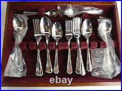 Oneida 18/8 Stainless Steel Cutlery Set In Case'Balmoral' (Bits Missing) (J18)